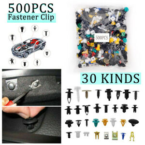 500pcs Mixed Auto Car Fastener Clip Bumper Fender Trim Plastic Rivet Auto Clips
