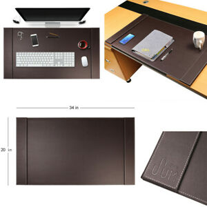 34 x20 Large Premium Genuine Leather Office Home Work Desk Mat Laptop Mouse Pad