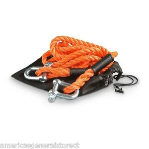 13 Tow Rope With Anchor Shackles 10 000 Lb 74815 Car Truck Auto Towing