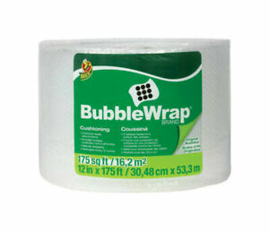 Shurtech Duck Bubble Wrap 12 x175 Clear Free Shipping