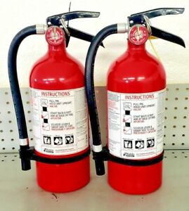 Fire Extinguisher Abc Dry Chemical Kidde Rechargeable Two Pack