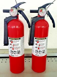 2 5lb Fire Extinguisher Abc Dry Chemical Kidde Disposable 1a10bc Two Pack