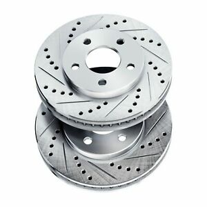 Brake Rotors front Powersport Drilled Slotted ford Mustang 1994 2004 Cobra