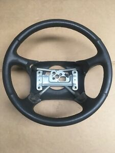 98 02 Chevy Gmc Truck Tahoe S10 Leather Wrapped Steering Wheel