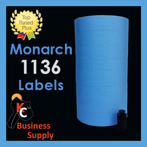 Monarch 1136 Price Gun Labels Blue Ink Roller Included Two Line Price Labels