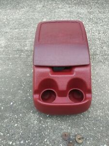 1992 1996 Ford F 150 250 Bronco Center Console Maroon Oem