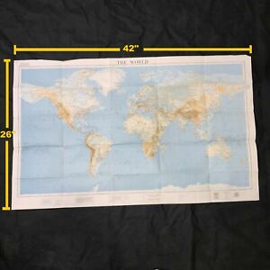 The American Geographical Society Vintage 1960 The World Topographic Map
