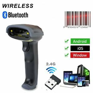 Automatic Laser Handheld Barcode Scanner Gun Reader Bluetooth Wireless Wired
