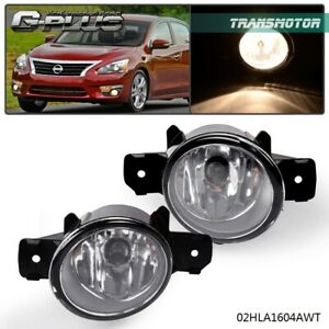1 Pair Left Right For Nissan Altima Maxima Rogue Sentra Clear Lens Fog Lights