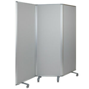 71 w X 72 12 Double Sided Mobile Magnetic Whiteboard cloth Partition W casters