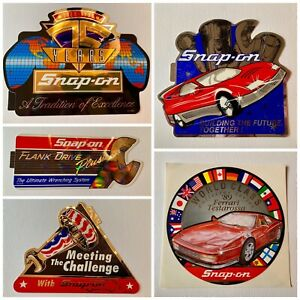 Snap on Tools Stickers 5 Pack vintage