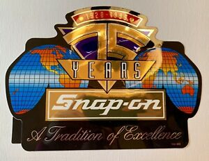 new Vintage Snap on Tools Sticker 75 Years a Tradition Of Excellence