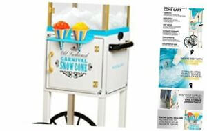 Inch Tall Snow Cone Cart Metal Scoop Makes 48 Icy Treats Includes Storage Com