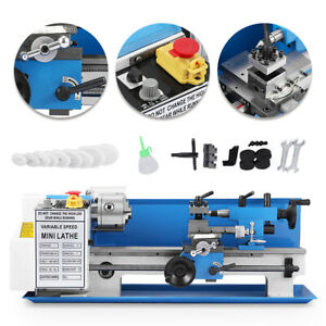 Cj18a Turning Blue Mini Lathe 7 x14 Digital Milling Metal Accessory Package