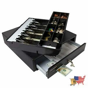 Cash Register Drawer For Point Of Sale pos System With Fully Removable 2 Tier
