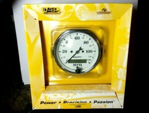 Autometer 1688 Old Tyme White 3 1 8 Programmable Speedometer Gauge Kit 0 120mph
