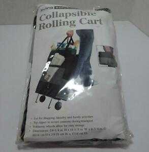 New Living Solutions Collapsible Rolling Cart Shipping Laundry Activites