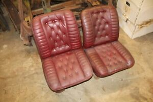 Vintage Hot Rod Muscle Car Red Plated Button Bucket Seats Van Chevy Ford Dodge