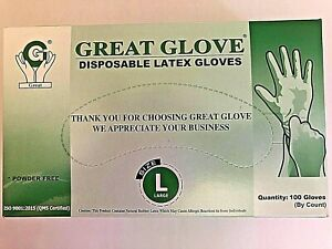 Latex Rubber Gloves Large White Disposable Nitrile Free Powder Free Free S h