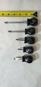 Snapon Set Of 4 Stubby Screwdrivers Sddp22 52 Ssdp21 Ssd1 243 Preowned