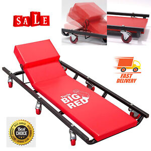 Rolling Garage Shop Creeper Adjustable Headrest Padded Mechanic Cart Bench Steel