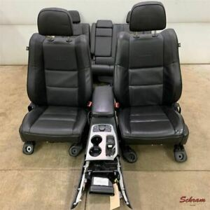2018 Grand Cherokee Summit Seat Set W Console Black Leather Oem 61k Mi 2052489