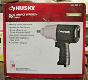 New Husky 1 2 Impact Wrench 650ft lbs 7500 Rpm 1003 097 323 8997