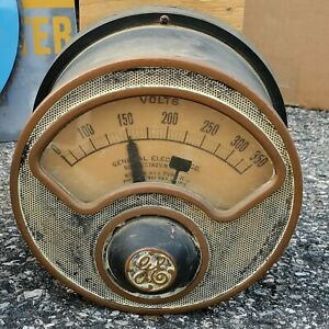7 1 2 Ge Antique Industrial Volt Meter Steampunk Gauge Vtg General Electric 2