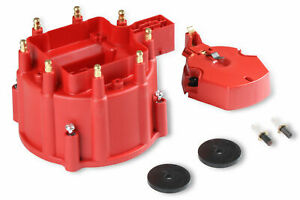 Msd Distributor Cap Rotor Kit 8416 Hei Male Red For Sbc 396 454 502 Bbc