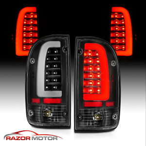 1995 2000 Replacement Black Led Bar Tail Light Set For Toyota Tacoma Bulb Socket