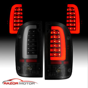 1995 2000 Replacement Smoke Black Led Bar Taillight Set For Toyota Tacoma W bulb