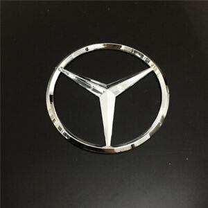 90mm Chrome Emblem Car Styling Rear Sticker Badge Decals Logo For Mercedes Benz