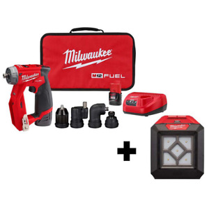 Milwaukee Drill Driver Kit W Flood Light Cordless 4 in 1 Installation 12v 3 8 In