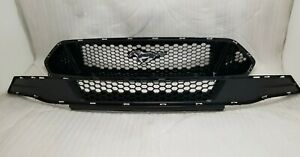 New Take Off 2018 2020 Ford Mustang Upper And Lower Grille With Emblem