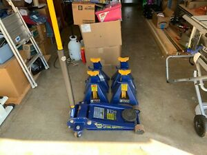 Floor Jack 7000lb Capacity With 12 000lb Jack Stands Napa With Creeper