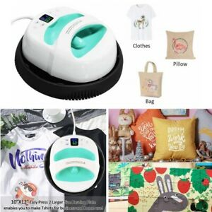12 10 Heat Press Machine Heat Shoe T shirt Printer Diy Print Mug Clothes New