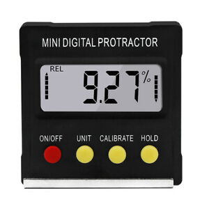 Cube Inclinometer Angle Gauge Meter Digital Lcd Protractor Electronic Level Box