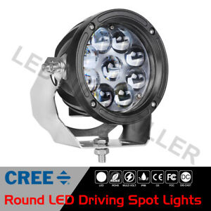 5 5 Cree Round Led Work Light Bull Bar Driving Pods Truck Off Road 4wd 12v 6
