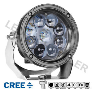 6 Cree Round Led Work Hyper Spot Light Bar Driving Pods Truck Off Road Tractor
