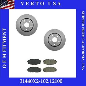 Front Brake Rotors Pads For Toyota Prius V 2012 2013 2014 2015 2016 2017