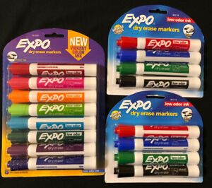 Expo Dry Erase Markers Lot Vibrant Color 8 Pack 2 Chisel Tip 4 Packs 16 Total