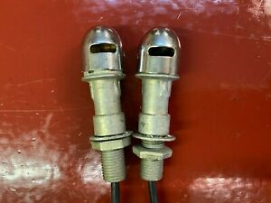 1950 s 1960 s Hooded Panel Dash Light Hoods Lamp Sockets Set 2 Old School Kool