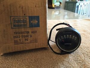 Nos 1965 Mustang Rally Pac 6000 Rpm Tachometer 8 Cyl Motor