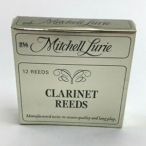 Mitchell Lurie Clarinet Reeds 2.5 Strength Box of 12 New Old Stock Vintage