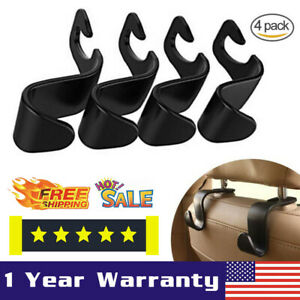 4pcs Car Seat Front Back Headrest Hooks Truck Coat Purse Bag Hanger Holder Rb