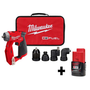 Milwaukee Cordless Drill Driver 4 In 1 Installation W Battery 12volt 3 8 In