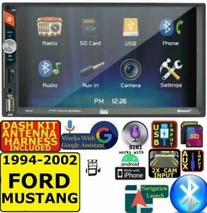 1994 2002 Ford Mustang Dual Bluetooth Usb Aux Car Radio Stereo W Screen Mirror