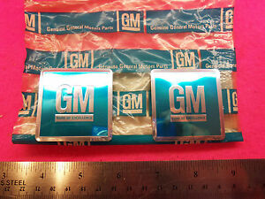 Nos Real 1966 1967 Gm Door Jamb Stickers Camaro Chevelle Corvette Authentic
