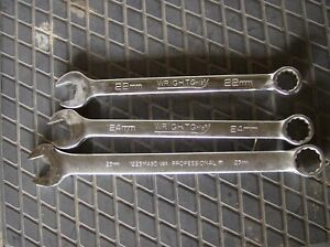 Proto Wright Metric Wrench Partial Set 22mm 24mm 25mm