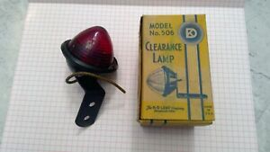 Two K D Lamp Co Clearance Lamps Red Model No 506 Vintage In Original Boxes